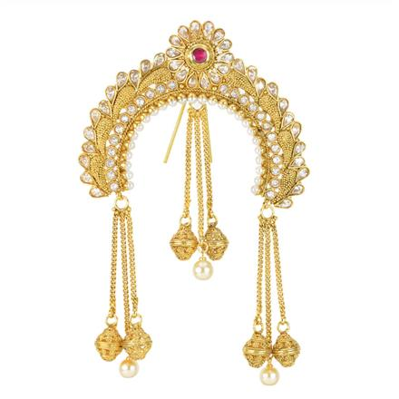 11992 Antique Classic Hair Brooch with gold plating