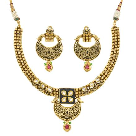 11994 Antique Classic Necklace with gold plating