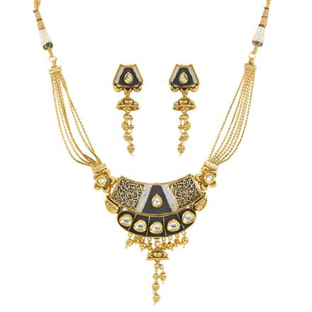 11996 Antique Classic Necklace with gold plating