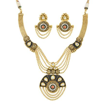 11997 Antique Classic Necklace with gold plating