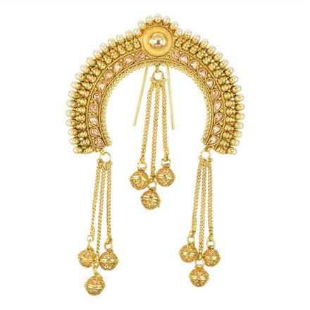 12002 Antique Classic Hair Brooch with gold plating