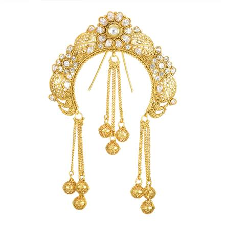 12003 Antique Classic Hair Brooch with gold plating