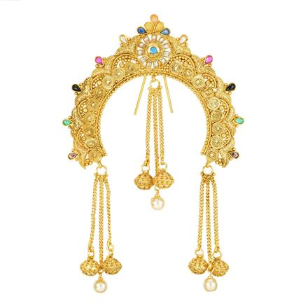 12004 Antique Classic Hair Brooch with gold plating