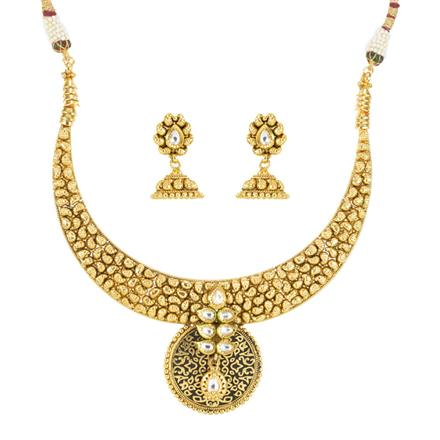 12008 Antique Classic Necklace with gold plating