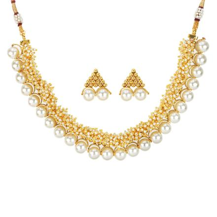 12015 Antique Classic Necklace with gold plating