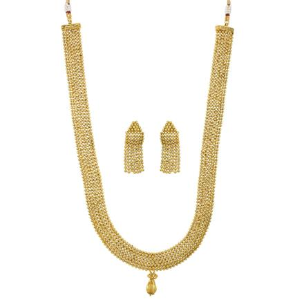 12017 Antique Long Necklace with gold plating