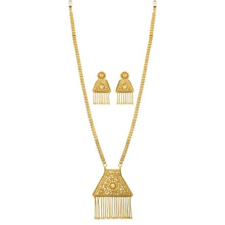 12018 Antique Long Necklace with gold plating
