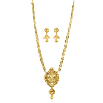 12019 Antique Long Necklace with gold plating