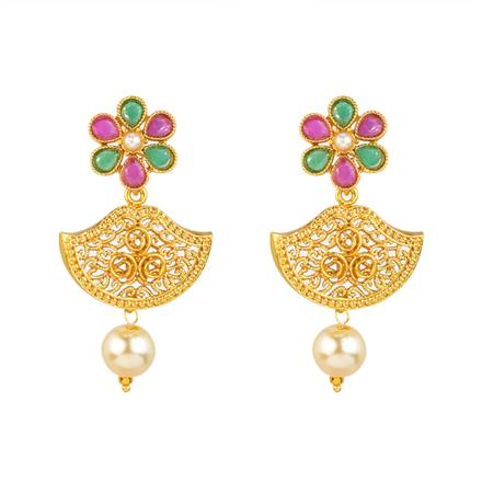12020 Antique Delicate Earring with gold plating
