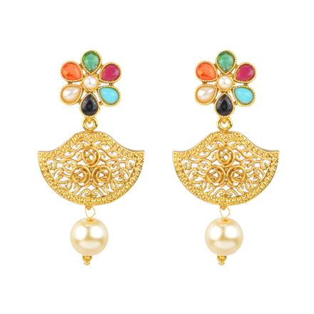 12021 Antique Delicate Earring with gold plating