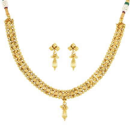12024 Antique Delicate Necklace with gold plating