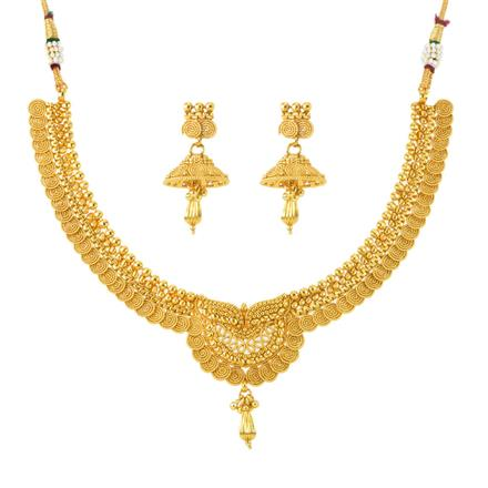 12025 Antique Plain Gold Necklace