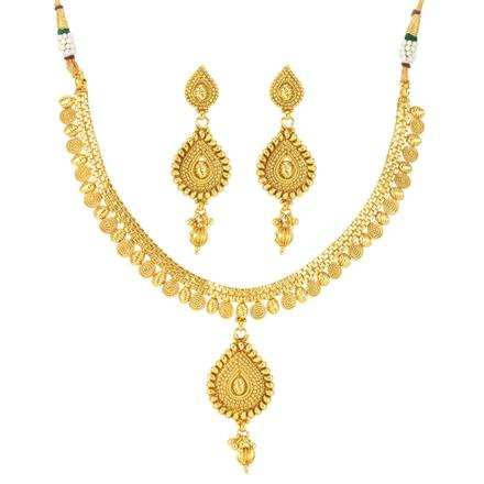 12026 Antique Delicate Necklace with gold plating