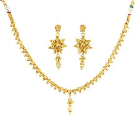 12027 Antique Delicate Necklace with gold plating