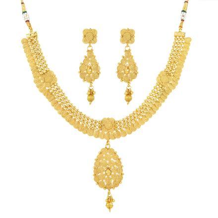 12028 Antique Plain Gold Necklace