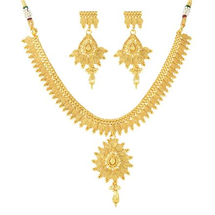 12029 Antique Plain Gold Necklace