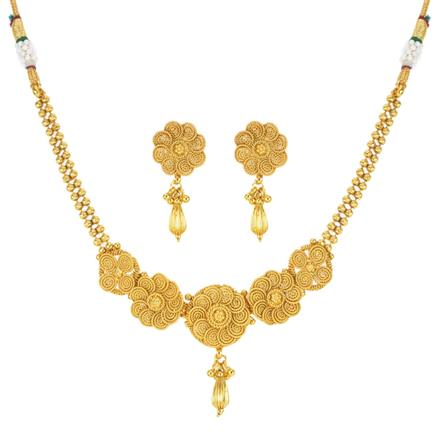 12030 Antique Delicate Necklace with gold plating
