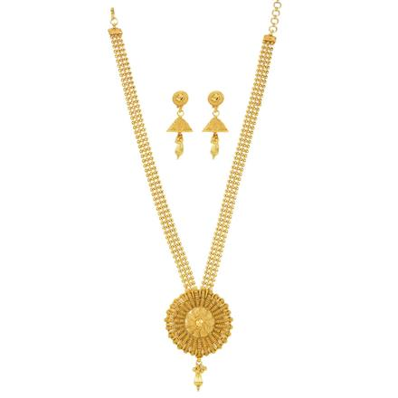 12032 Antique Plain Gold Necklace