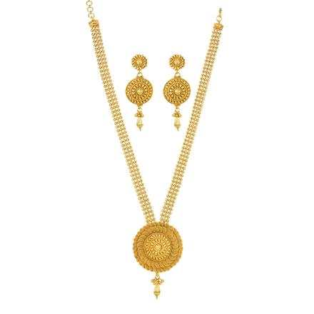 12033 Antique Plain Gold Necklace
