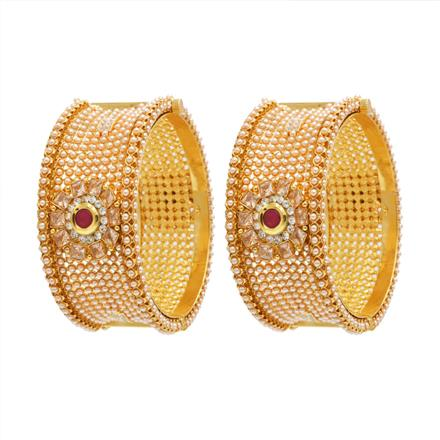 12052 Antique Openable Bangles with gold plating