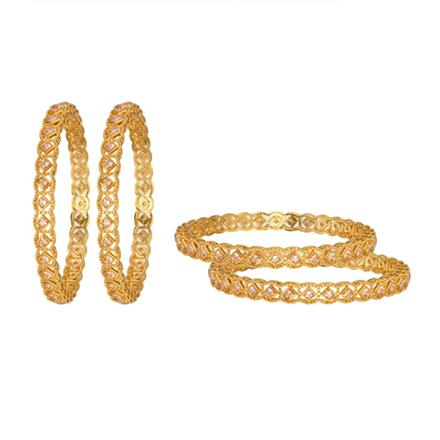 12053 Antique Classic Bangles with gold plating