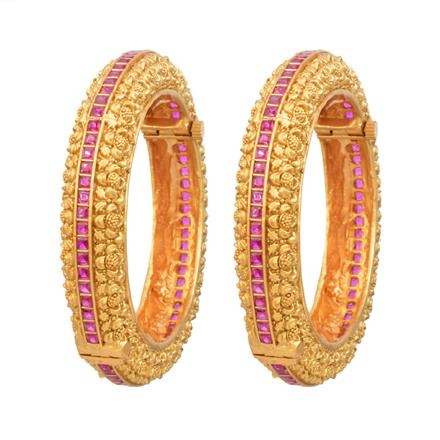 12061 Antique Openable Bangles with gold plating