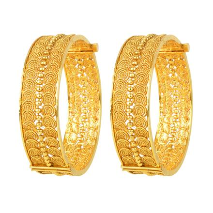 12063 Antique Openable Bangles with gold plating