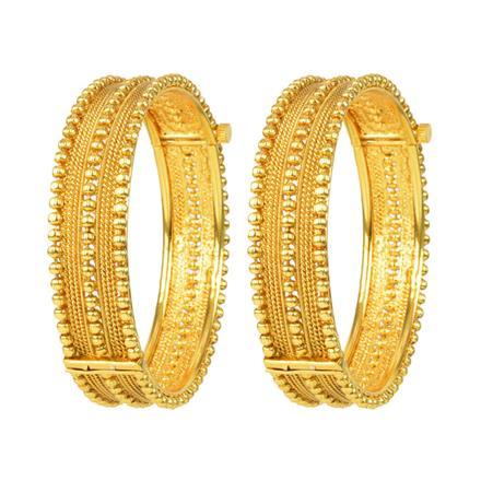 12064 Antique Plain Gold Bangles