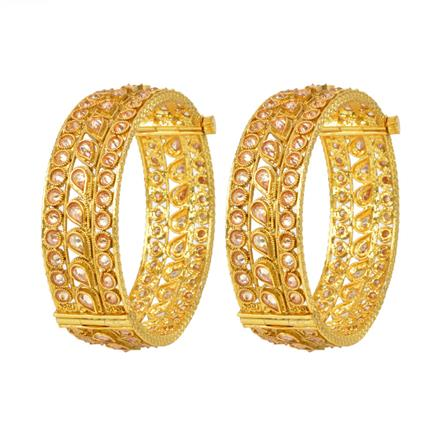 12067 Antique Openable Bangles with gold plating