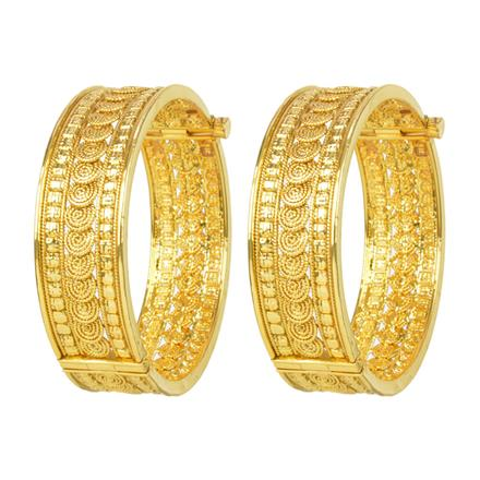 12069 Antique Openable Bangles with gold plating