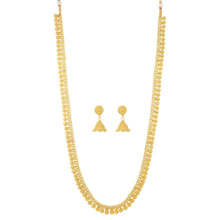 12070 Antique Long Necklace with gold plating