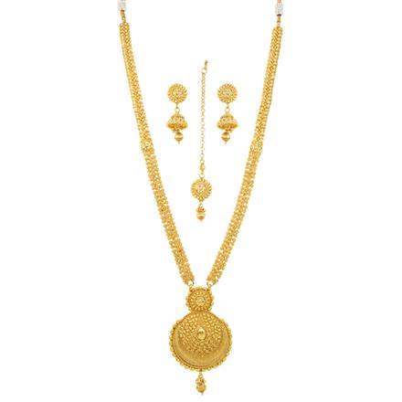 12071 Antique Long Necklace with gold plating