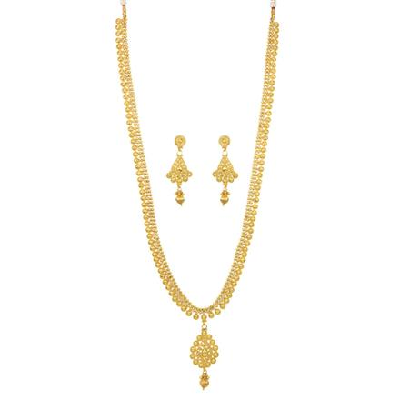 12072 Antique Long Necklace with gold plating