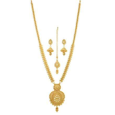 12073 Antique Long Necklace with gold plating