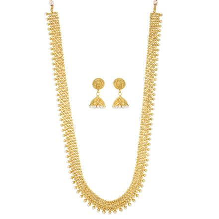 12074 Antique Long Necklace with gold plating