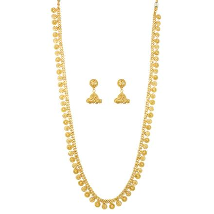 12075 Antique Long Necklace with gold plating