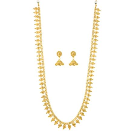 12076 Antique Long Necklace with gold plating