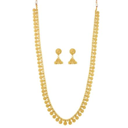 12077 Antique Long Necklace with gold plating