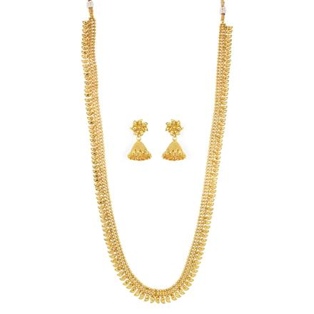 12078 Antique Long Necklace with gold plating