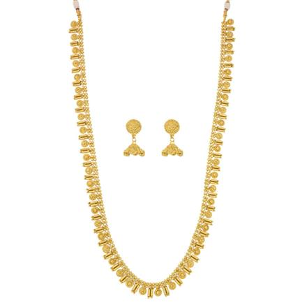 12079 Antique Long Necklace with gold plating