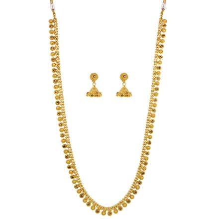 12081 Antique Long Necklace with gold plating