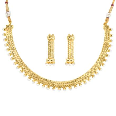 12082 Antique Delicate Necklace with gold plating