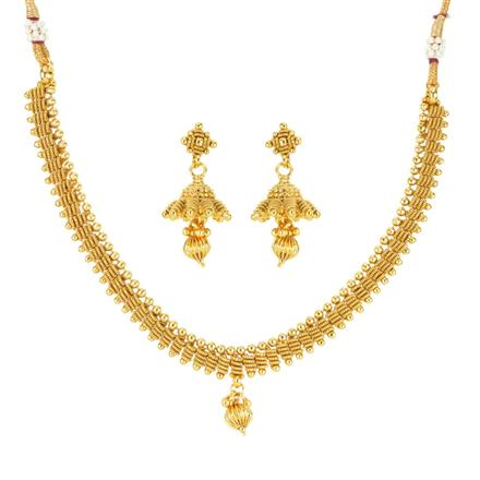 12084 Antique Delicate Necklace with gold plating