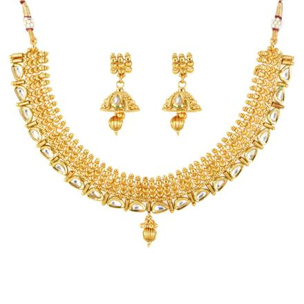 12085 Antique Classic Necklace with gold plating