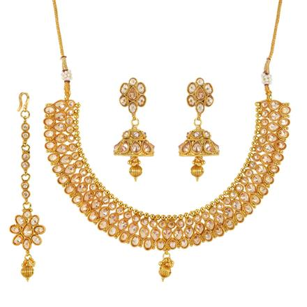 12086 Antique Classic Necklace with gold plating