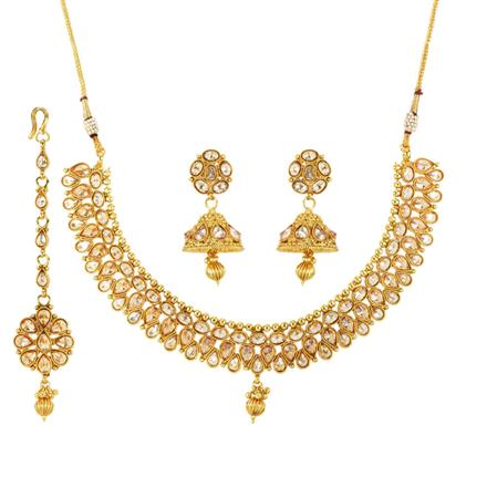 12087 Antique Classic Necklace with gold plating