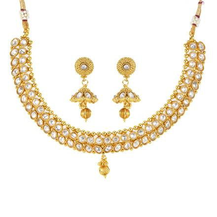 12088 Antique Classic Necklace with gold plating