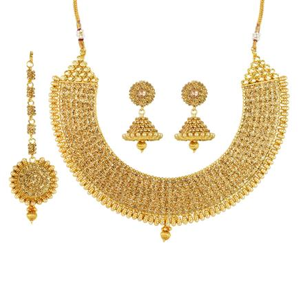 12089 Antique Classic Necklace with gold plating