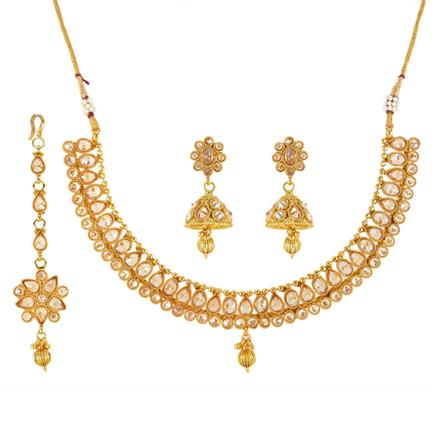 12090 Antique Classic Necklace with gold plating