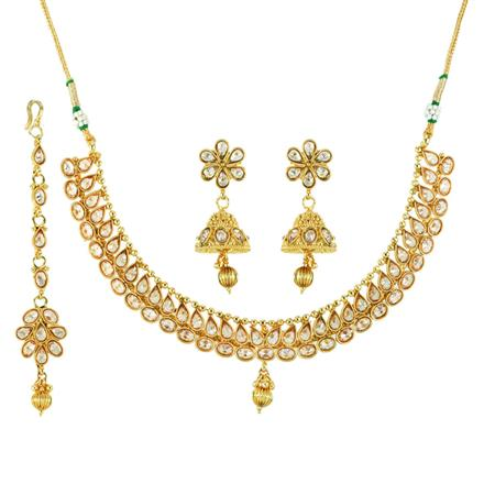 12092 Antique Classic Necklace with gold plating